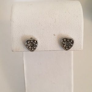 Vintage heart shaped studs
